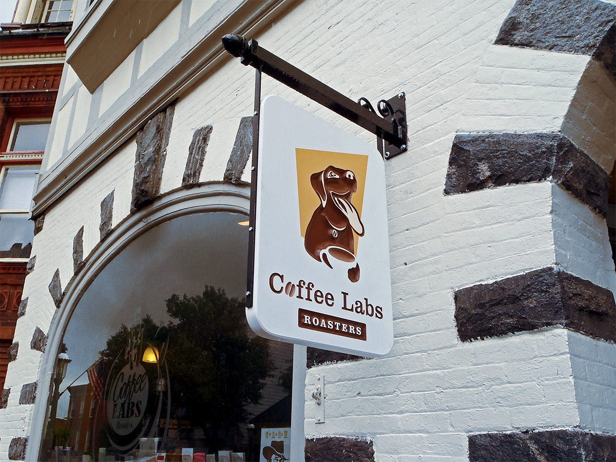 Coffee Labs Carved Sign