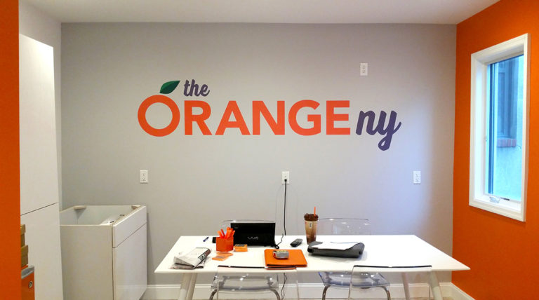 The Orange Office Wall