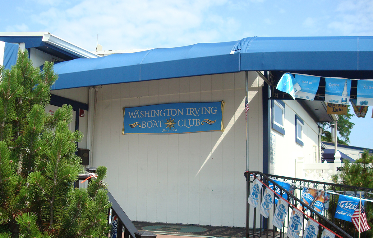 Washington Irving Boat Club Sign